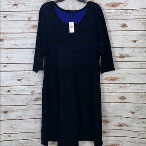 Lane Bryant Sweater Dress Plus Size 22/24 Blue